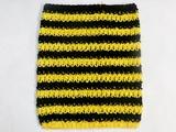 Топ - основа для платьев tutu в полоску цв. желтый+черный  23х20 см.