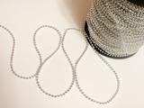 Бусины на нитке цв. серебро 3 мм.(1м.)
