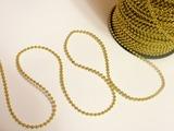 Бусины на нитке цв. золото 3 мм.(1м.)