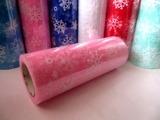 """Фатин в шпульке """"снежинки"""" цв. розовый 10 ярд."""