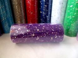 Фатин в шпульке с блестками цв. темно-фиолетовый