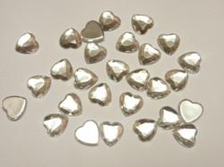 "Кабошоны ""сердце"" цв. серебро D16 мм. (10 шт.)"