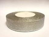 Металлизированная лента цв. серебро 20 мм.