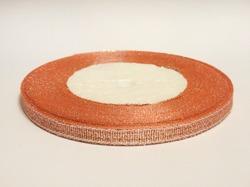 Металлизированная лента цв. персиковый 6 мм.