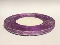 Металлизированная лента цв. сиреневый 6 мм.