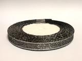Металлизированная лента цв. черный 10 мм.