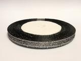 Металлизированная лента цв. черный 6 мм.