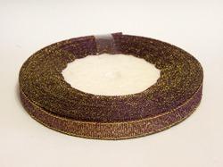 Металлизированная лента цв. баклажан 10 мм.