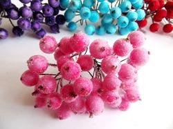 Ягоды в сахаре цв. розовый (40 ягод)