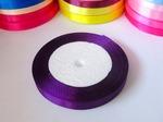 Атласная лента цв. темно-фиолетовый 10мм