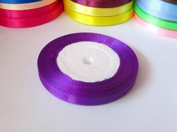 Атласная лента цв. фиолетовый 10мм