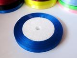 Атласная лента цв. синий 10 мм