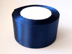 Атласная лента цв. темно-синий 50 мм.(1 м.)