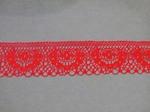 Кружево цв. красный 35 мм.