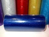 Фатин в шпульке с глиттером цв. синий 25 ярд.