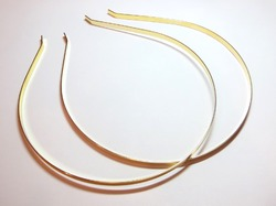 Ободок-основа метал. цв. золото 0.5 см