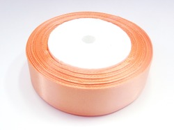 Атласная лента цв. пыльно-персиковый 25 мм.