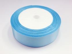 Атласная лента цв. сине-голубой 25 мм.(1м.)