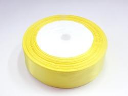 Атласная лента цв. желтый 25 мм.(1м.)