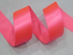 Атласная лента матовая ПП цв. ярко-розовый 40мм.(1м.)