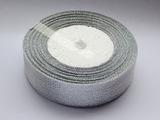Металлизированная лента цв. серебро 25 мм.