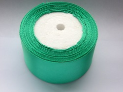 Атласная лента цв.  светло-зеленый 50 мм.