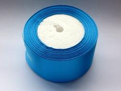 Атласная лента цв. ярко-голубой 50 мм.