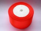 Атласная лента цв. ярко-оранжевый 50 мм.