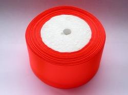 Атласная лента цв. ярко-оранжевый 50 мм.(1м.)