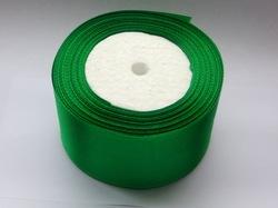Атласная лента цв. зеленый 50 мм.