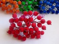 Ягоды в сахаре цв. красный (40 ягод)