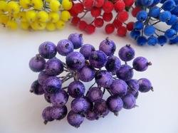 Ягоды в сахаре цв. фиолетовый (40 ягод)