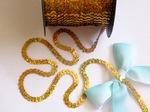 Пайетки на нитях цв. золото голографик