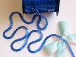 Пайетки на нитях цв. синий голографик