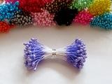 Тычинки цв. светло-фиолетовый 3мм. (100 шт.)