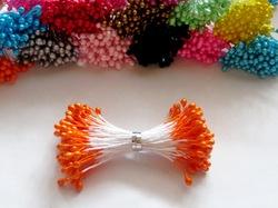 Тычинки цв. оранжевый 3мм. (100 шт.)