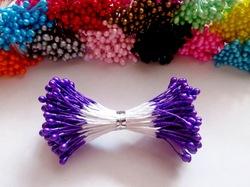 Тычинки цв. фиолетовый 3мм. (100 шт.)