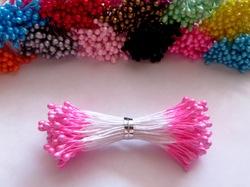 Тычинки цв. ярко-розовый 3мм. (100 шт.)