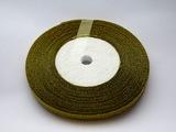 Металлизированная лента цв. золото 6мм