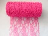Гипюр в шпульке цв. ярко-розовый
