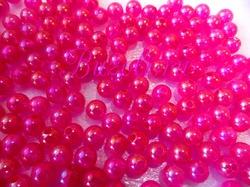 Бусины акриловые цв. ярко-розовый перламутр  D 8 мм. (100 шт.)