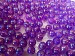 Бусины акриловые цв. фиолетовый перламутр  D 8 мм. (100 шт.)