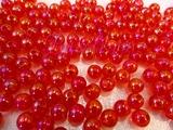 Бусины акриловые цв. красный перламутр  D 8 мм. (100 шт.)