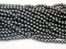 Бусины цв. серебристо-серый жемчуг D 8 мм. (100 шт.)