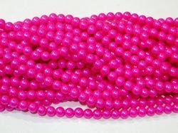 Бусины цв. ярко-розовый жемчуг D 10 мм. (50 шт.)