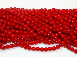 Бусины цв. красный D 10 мм. (50 шт.)