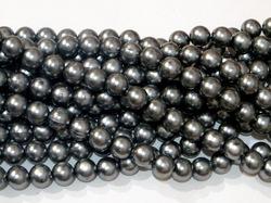 Бусины цв. серебристо-серый жемчуг D 12 мм. (25 шт.)