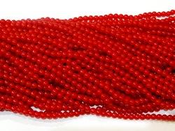 Бусины цв. красный D 6 мм. (150 шт.)