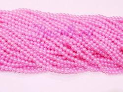 Бусины цв. розовый жемчуг D 6 мм. (150 шт.)