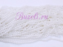 Бусины цв. белый жемчуг D 6 мм. (150 шт.)
